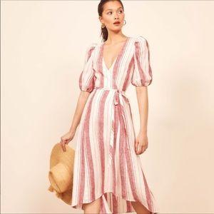 Reformation Waves Dress in Savannah Stripe Sz XS